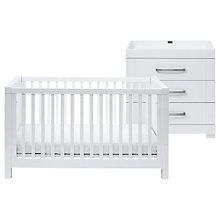 Buy Silver Cross Notting Hill Cotbed & Dresser, White Online at johnlewis.com