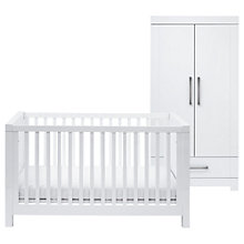 Buy Silver Cross Notting Hill Cotbed & Wardrobe, White Online at johnlewis.com