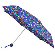 Buy John Lewis Archive Print Bird Umbrella, Blue Online at johnlewis.com