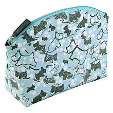 Buy Radley Cherry Blossom Dog Medium Cosmetic Case, Blue Online at johnlewis.com