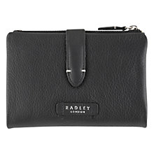 Buy Radley Tetbury Leather Medium Tab Purse, Black Online at johnlewis.com