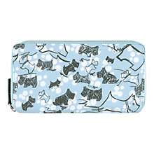 Buy Radley Cherry Dog Blossom Zip Matinee Purse, Blue Online at johnlewis.com