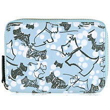 Buy Radley Cherry Blossom Dog Medium Zip Purse, Blue Online at johnlewis.com