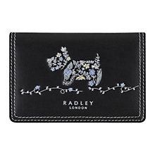 Buy Radley Rosemary Gardens Leather Card Holder, Black Online at johnlewis.com