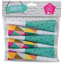Buy Meri Meri Geo Party Horns, Set of 6 Online at johnlewis.com
