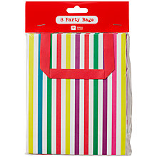 Buy Talking Tables Bright Stripe Party Bags, Pack of 8 Online at johnlewis.com