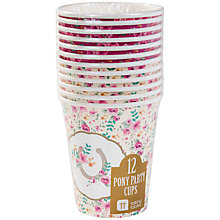 Buy Talking Tables Pony Party Cups, Pack of 12 Online at johnlewis.com