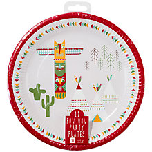 Buy Talking Tables Pow Wow Party Plates, Set of 12 Online at johnlewis.com