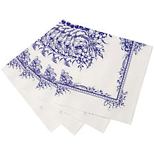 Buy Talking Tables Blue Paper Napkins, Pack of 20 Online at johnlewis.com