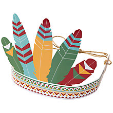Buy Talking Tables Pow Wow Party Headdresses, Pack of 6 Online at johnlewis.com