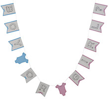 Buy Ginger Ray Boy or Girl Garland Online at johnlewis.com