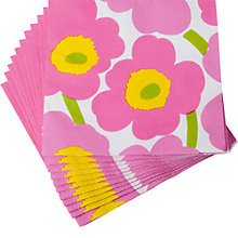 Buy Marimekko Floral Paper Napkins, Pink, Pack of 20 Online at johnlewis.com