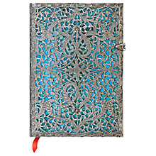 Buy Paperblanks Filigree Maya Blue Midi Journal Online at johnlewis.com