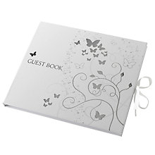 Buy John Lewis Silver Butterfly Guest Book Online at johnlewis.com