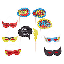 Buy Ginger Ray Comic Superhero Mask Party Props, Pack of 10 Online at johnlewis.com