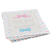 Buy Ginger Ray Boy or Girl Paper Napkins Online at johnlewis.com
