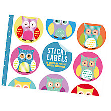 Buy Go Stationery Owl Sticky Labels Online at johnlewis.com