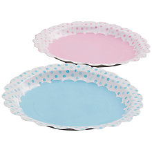Buy Ginger Ray Boy Or Girl Pink and Blue Plates, Pack of 8 Online at johnlewis.com
