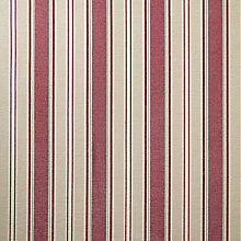 Buy John Lewis Oscar Stripe Fabric, Cranberry, Price Band D Online at johnlewis.com