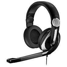 Buy Sennheiser PC 333D On-Ear Surround Sound PC Gaming Headset with DJ Hinge Mic and Integrated Volume Control, Black/Silver Online at johnlewis.com