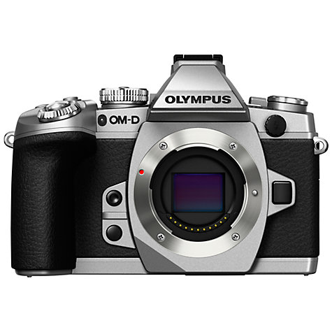 "Buy Olympus OM-D E-M1 Compact System Camera, HD 1080p, 16.3MP, Wi-Fi, EVF, 3"" LCD Screen, Body Only Online at johnlewis.com"