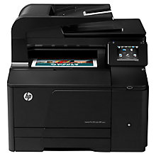 Buy HP LaserJet Pro 200 M276nw Wireless Colour All-in-One Laser Printer & Fax Machine Online at johnlewis.com