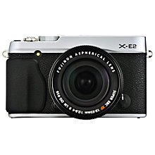 "Buy Fujifilm X-E2 Compact System Camera with XF18-55mm Lens, HD 1080p, 16.7MP, EVF, 3"" LCD Screen Online at johnlewis.com"