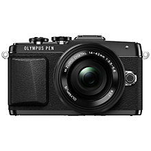 "Buy Olympus PEN E-PL7 Compact System Camera with 14-42mm EZ Lens, HD 1080p, 16.1MP, 3"" LCD Touch Screen Online at johnlewis.com"