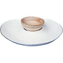 Buy Just Slate Chip & Dip Plate with Mango Wood Bowl Online at johnlewis.com