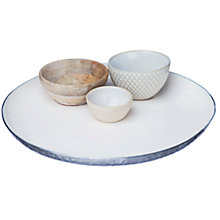 Buy Just Slate Tapas Plate With Bowls, Set of 3 Online at johnlewis.com