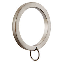 Buy John Lewis Brushed Nickel Curtain Rings, Pack of 6, Dia.35mm Online at johnlewis.com