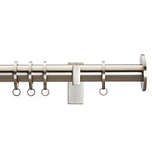 Buy John Lewis Brushed Nickel Curtain Pole Kit Online at johnlewis.com