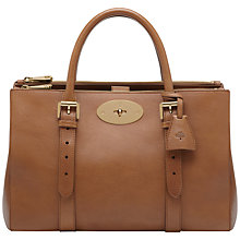 Buy Mulberry Bayswater Leather Double Zip Tote Bag, Oak Online at johnlewis.com