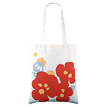 Buy Radley Butterfield Cotton Medium Tote Bag, Orange Online at johnlewis.com