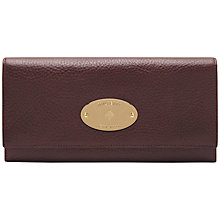 Buy Mulberry Continental Leather Wallet, Oxblood Online at johnlewis.com