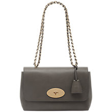 Buy Mulberry Lily Leather Bag, Grey Online at johnlewis.com