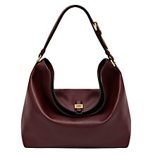 Buy Mulberry Tessie Leather Hobo Bag, Oxblood Online at johnlewis.com