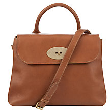 Buy Mulberry Dorothy Leather Satchel Bag, Oak Online at johnlewis.com