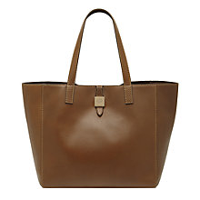 Buy Mulberry Tessie Leather Tote Bag, Oak Online at johnlewis.com