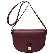Buy Mulberry Tessie Leather Satchel Bag, Oxblood Online at johnlewis.com