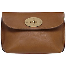 Buy Mulberry Leather Locked Cosmetic Purse, Oak Online at johnlewis.com