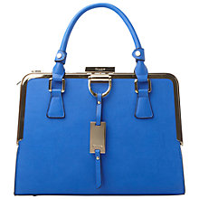 Buy Dune Diana Metal Frame Tote Bag, Blue Online at johnlewis.com