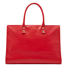 Buy Lulu Guinness Daphne Smooth Leather Shoulder Bag, Red Online at johnlewis.com
