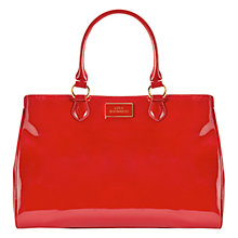 Buy Lulu Guinness Paula Polished Leather Grab Bag, Red Online at johnlewis.com