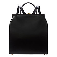 Buy Lulu Guinness Eva Leather Backpack, Black Online at johnlewis.com