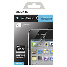 Buy Belkin ExactAlign Transparent Screen Protector for iPhone 4 & 4s Online at johnlewis.com