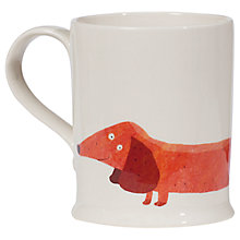 Buy Fenella Smith Dachschund Mug, Large Online at johnlewis.com