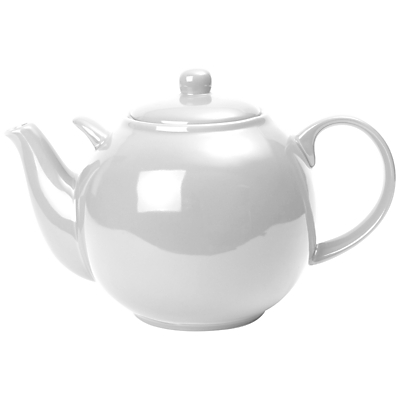 London Pottery White Teapot, 3.2L, White