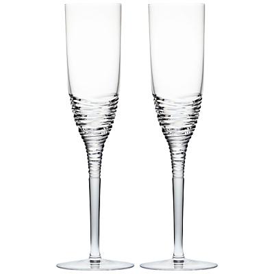 Waterford Jasper Conran Strata Crystal Champagne Flutes, Set of 2