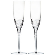 Buy Waterford Jasper Conran Strata Crystal Champagne Flutes, Set of 2 Online at johnlewis.com